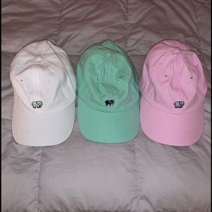 Three Ivory Ella baseball caps